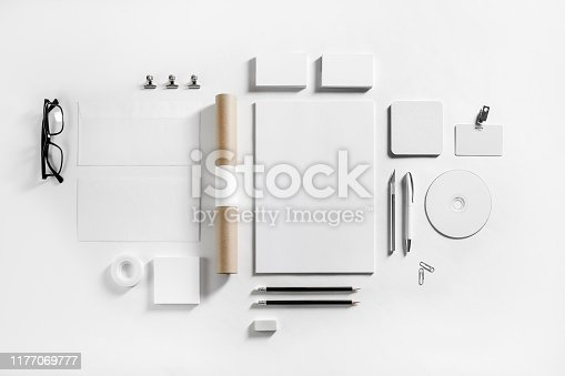 istock Blank corporate stationery 1177069777
