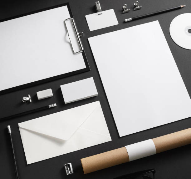 blank corporate stationery - office equipment stock pictures, royalty-free photos & images
