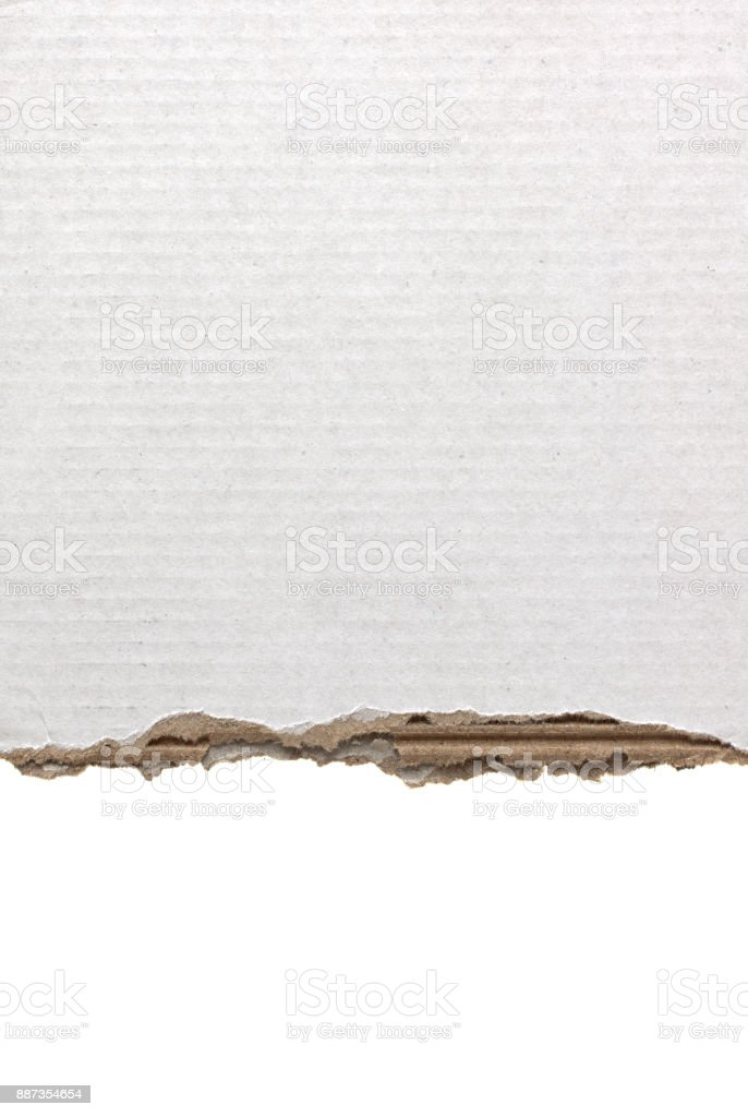 Blank corrugated cardboard paper textured background stock photo