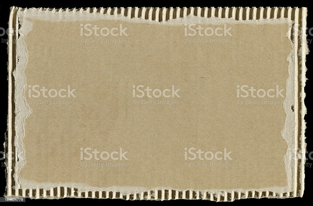 Blank corrugated cardboard textured background royalty-free stock photo