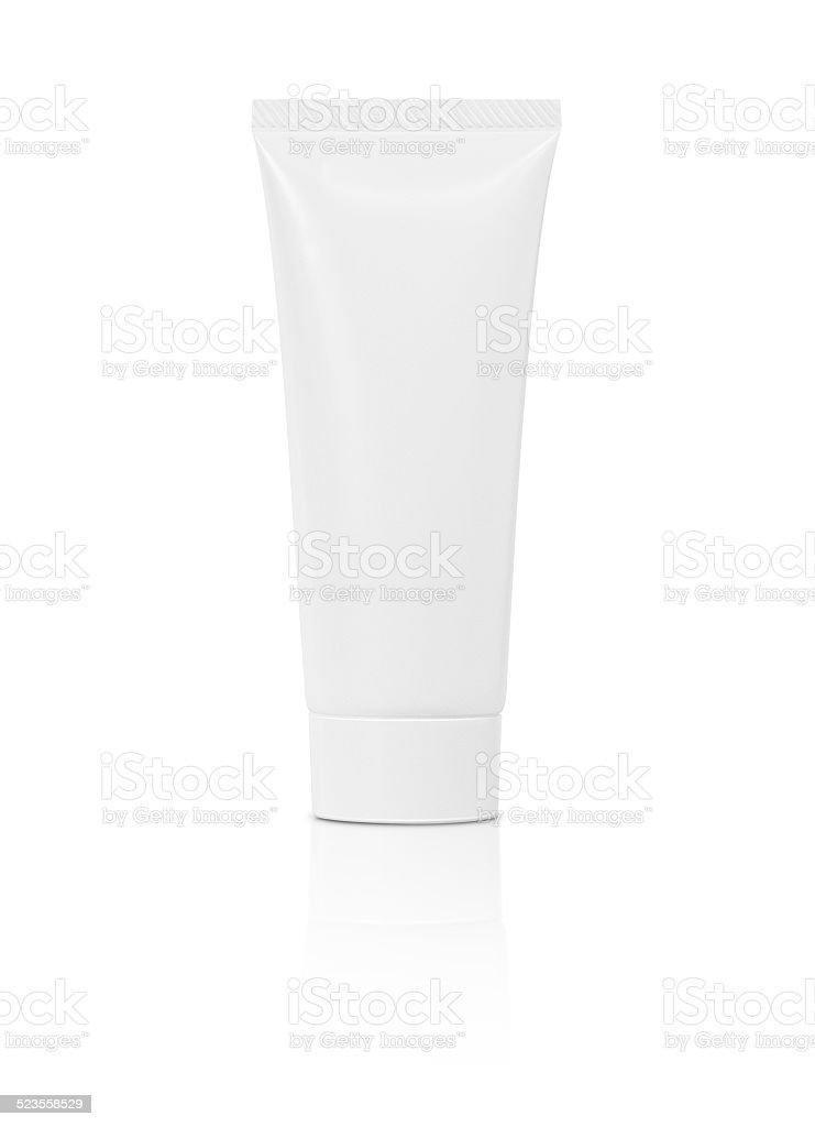 blank cosmetic tube isolated on white background stock photo
