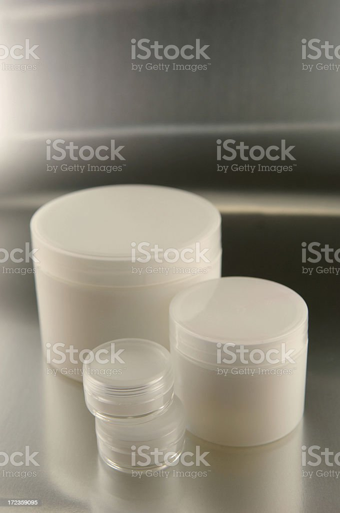blank cosmetics containers royalty-free stock photo