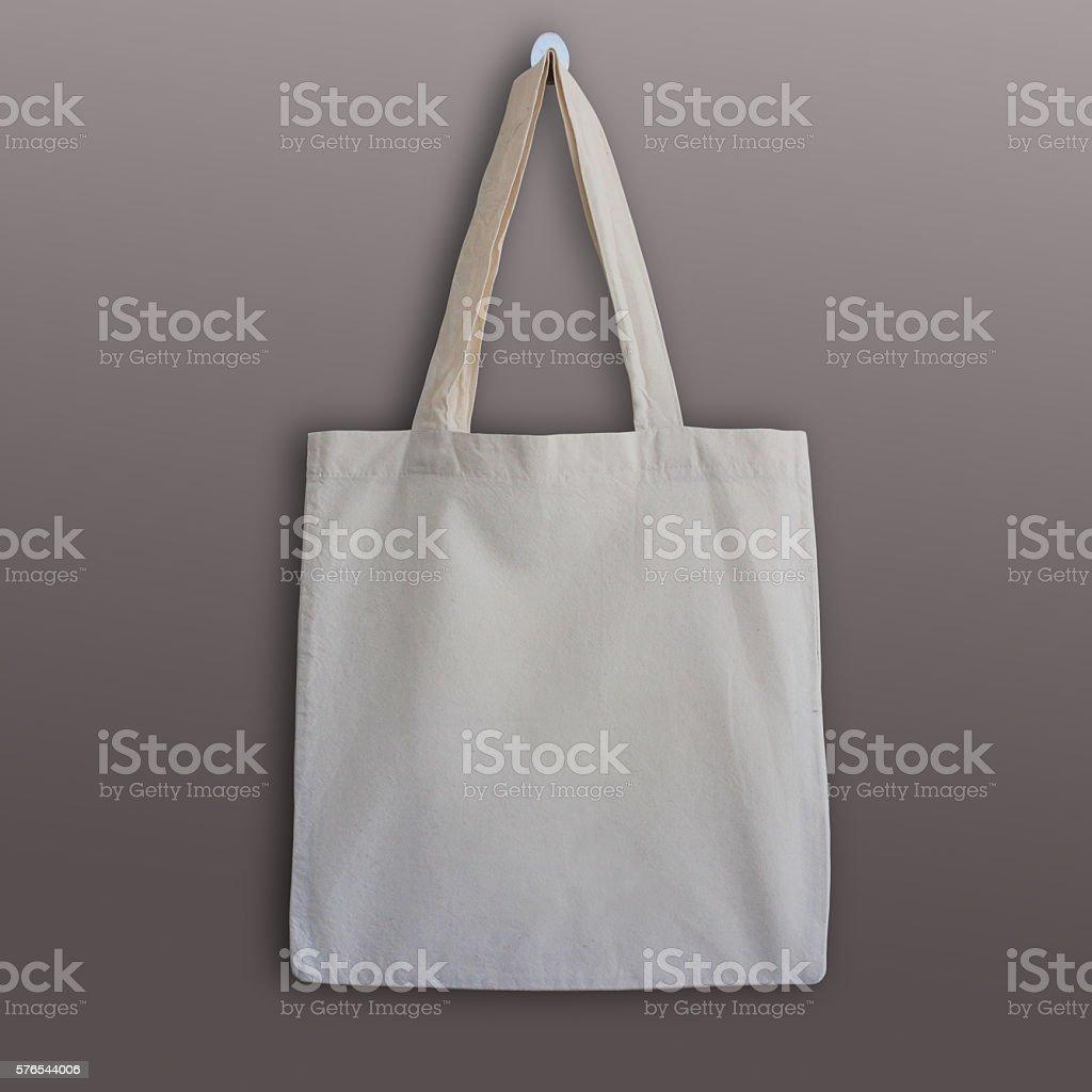 Blank cotton tote bag, design mockup. - foto de stock