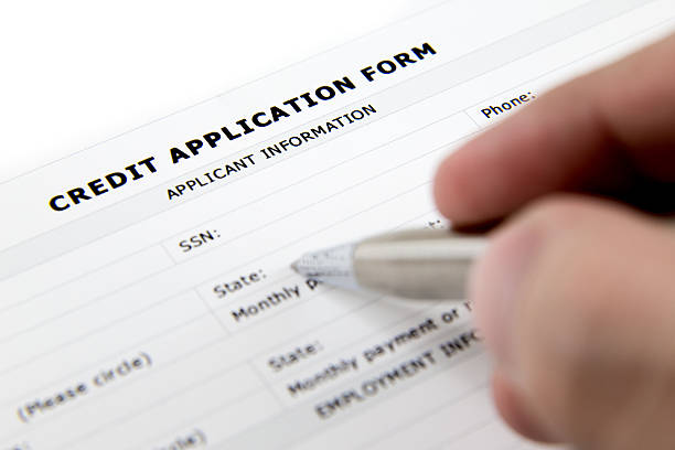 Leere Credit Application Form und Stift – Foto