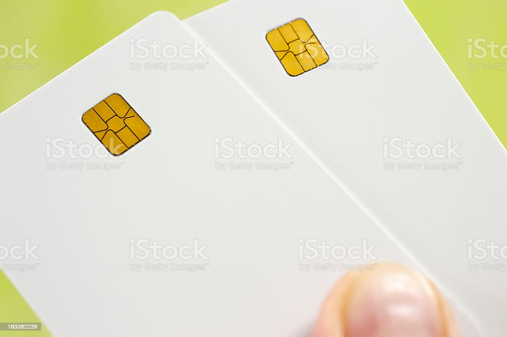 blank credit card royalty-free stock photo