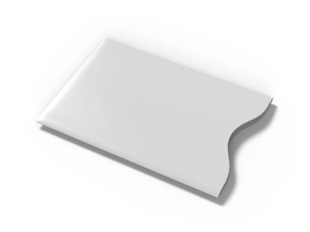 Blank Credit Card Sleeve Protector. 3d render illustration. stock photo