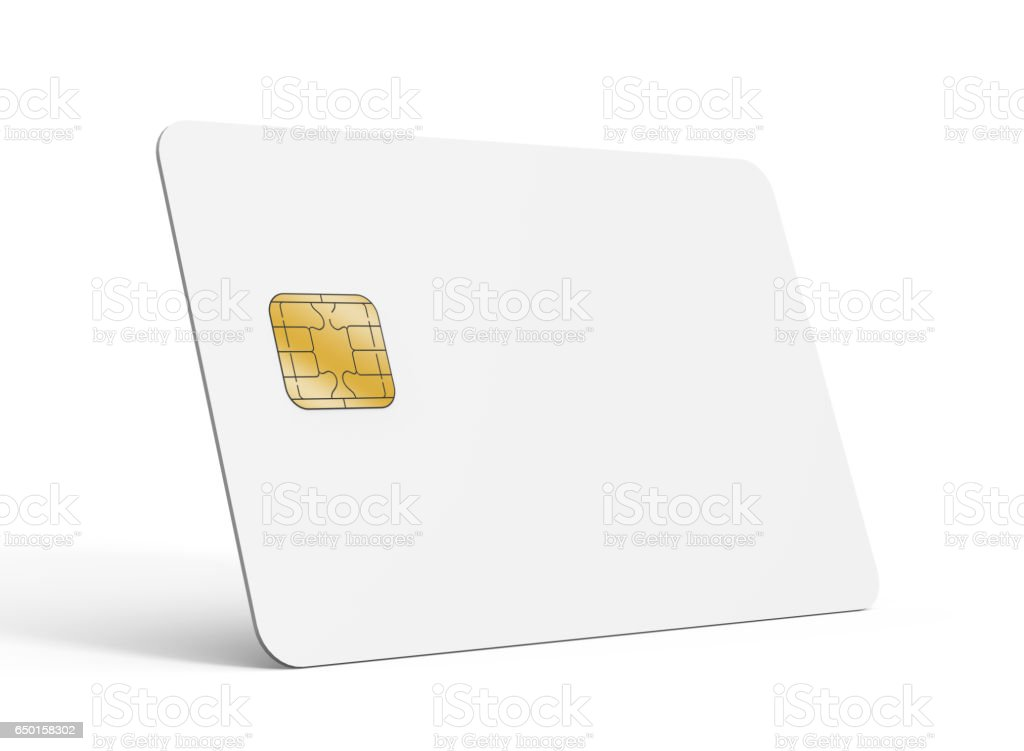 Blank credit card template stock photo