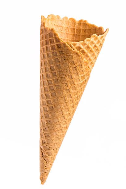Leere knusprige ice cream cone – Foto