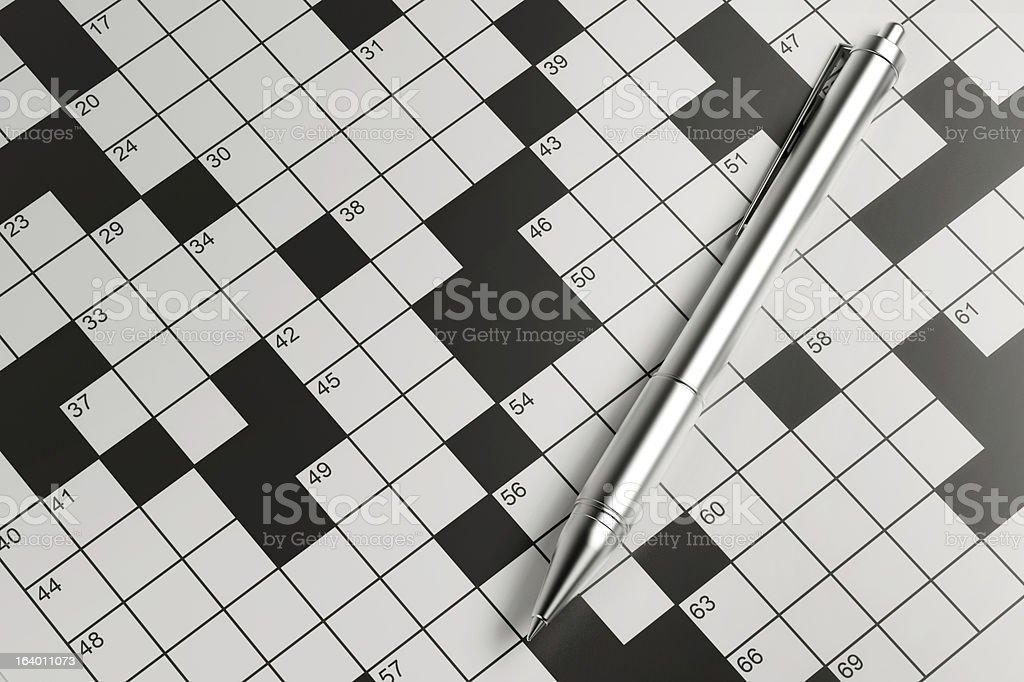 Blank Crossword royalty-free stock photo
