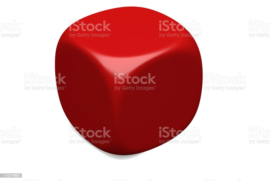 Blank Cube stock photo