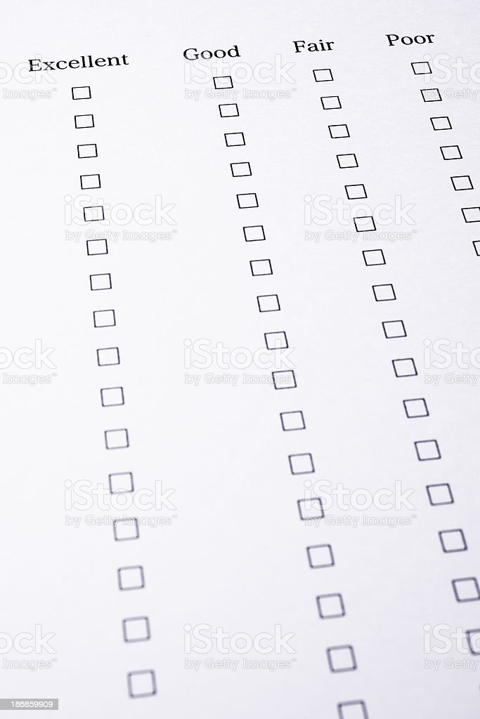 Blank Customer Service Feedback Form stock photo   iStock