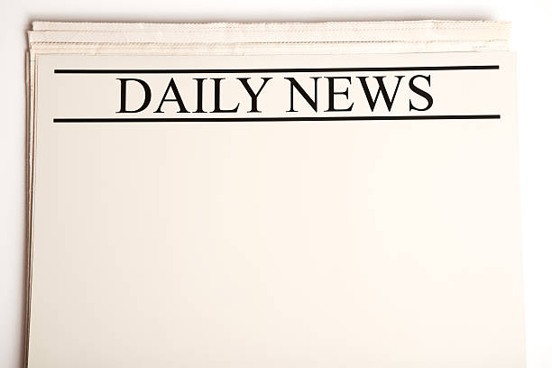 Blank Daily Newspaper for Your Announcement stock photo