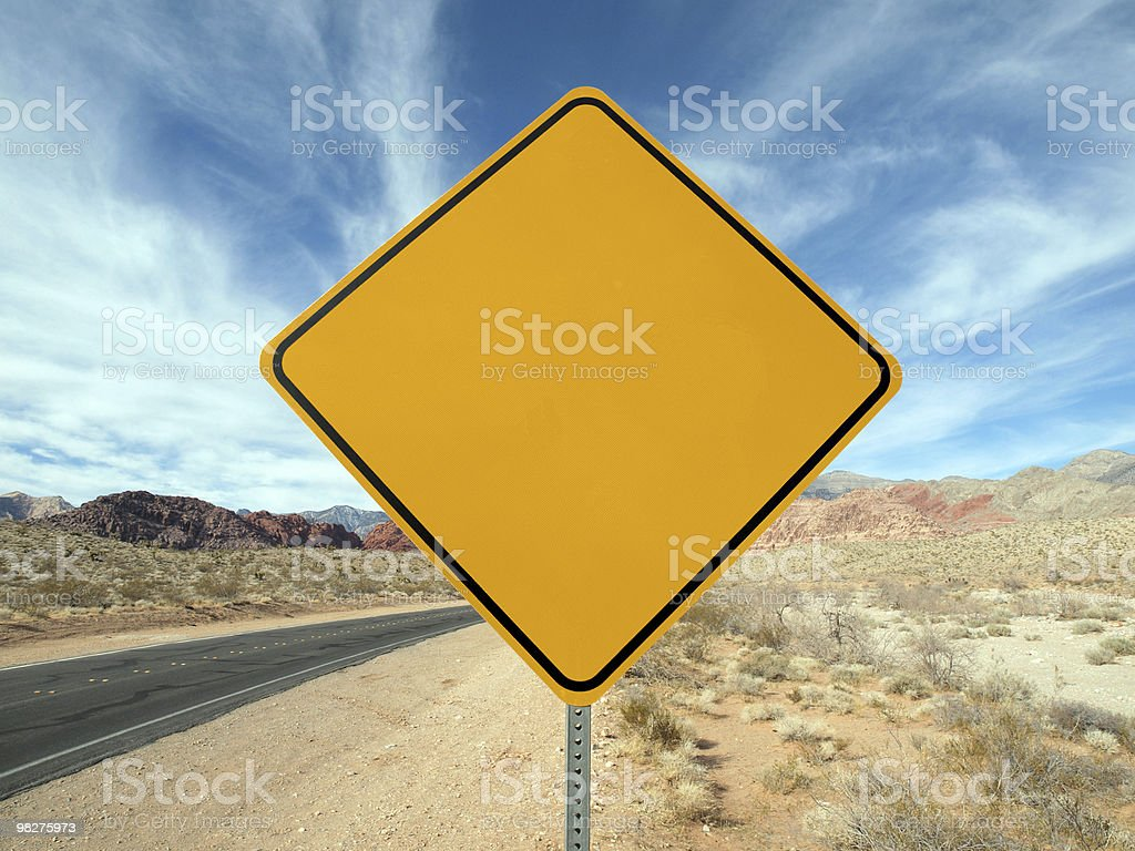 Blank desert highway sign. royalty-free stock photo