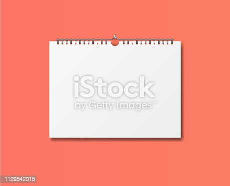 1129542015 istock photo Blank design calendar template. 1129542015