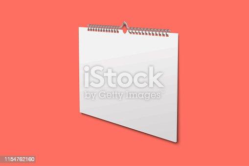 istock Blank design calendar template 1154762160