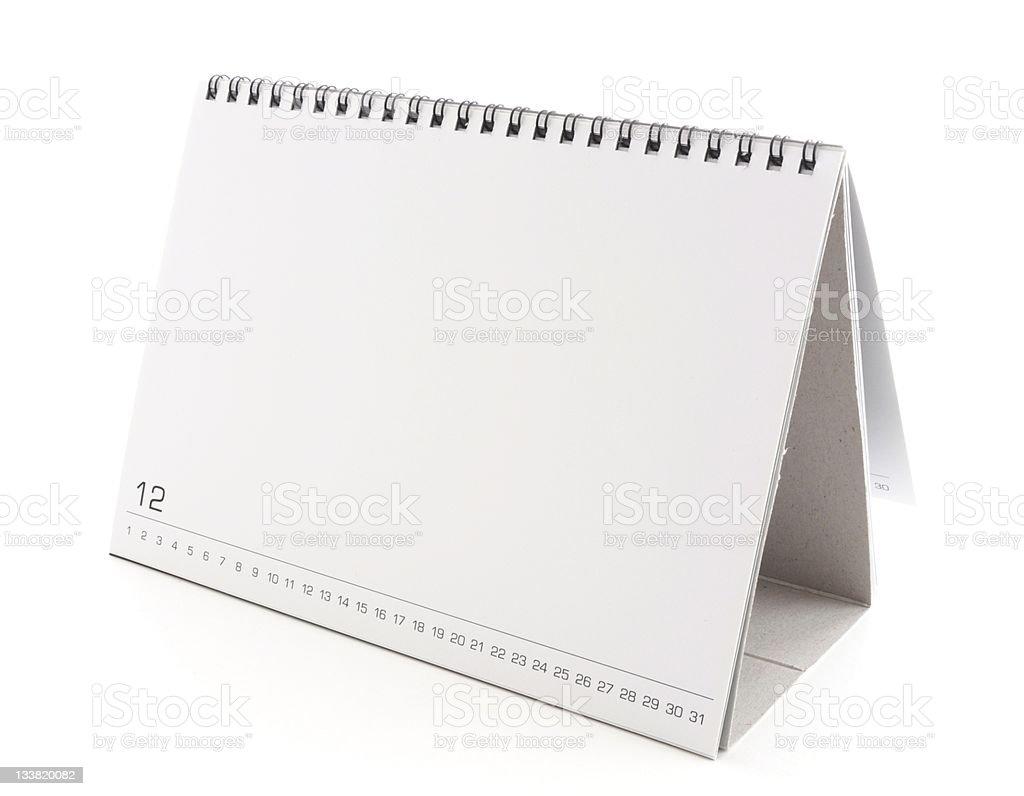 Blank desktop calendar, flip style stock photo