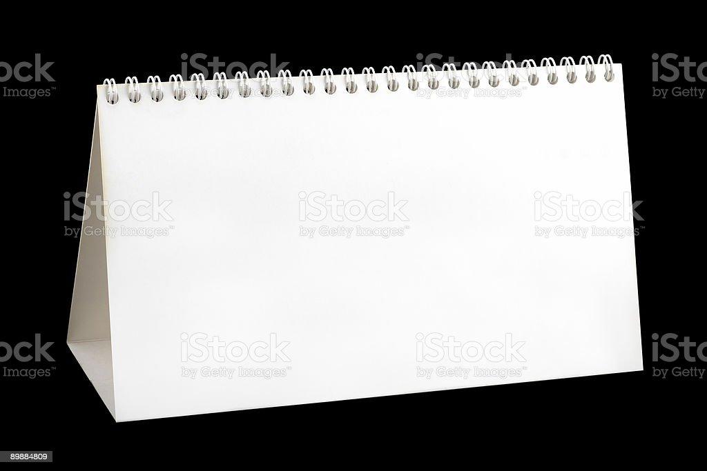 En blanco Calendario de escritorio foto de stock libre de derechos