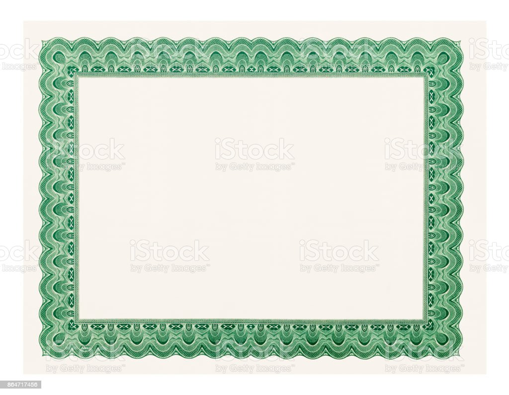 Blank Diploma stock photo