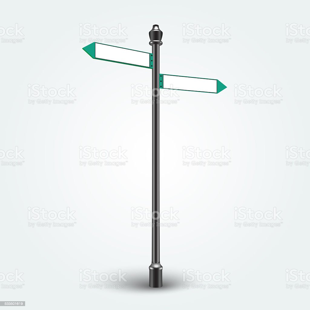 Blank Direction arrows signs for copy space stock photo