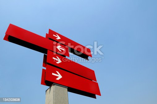 istock Blank Direction Guide 134203608