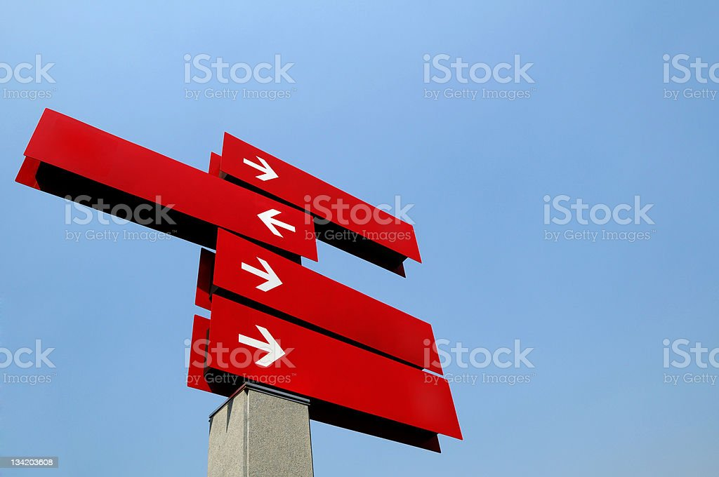 Blank Direction Guide stock photo
