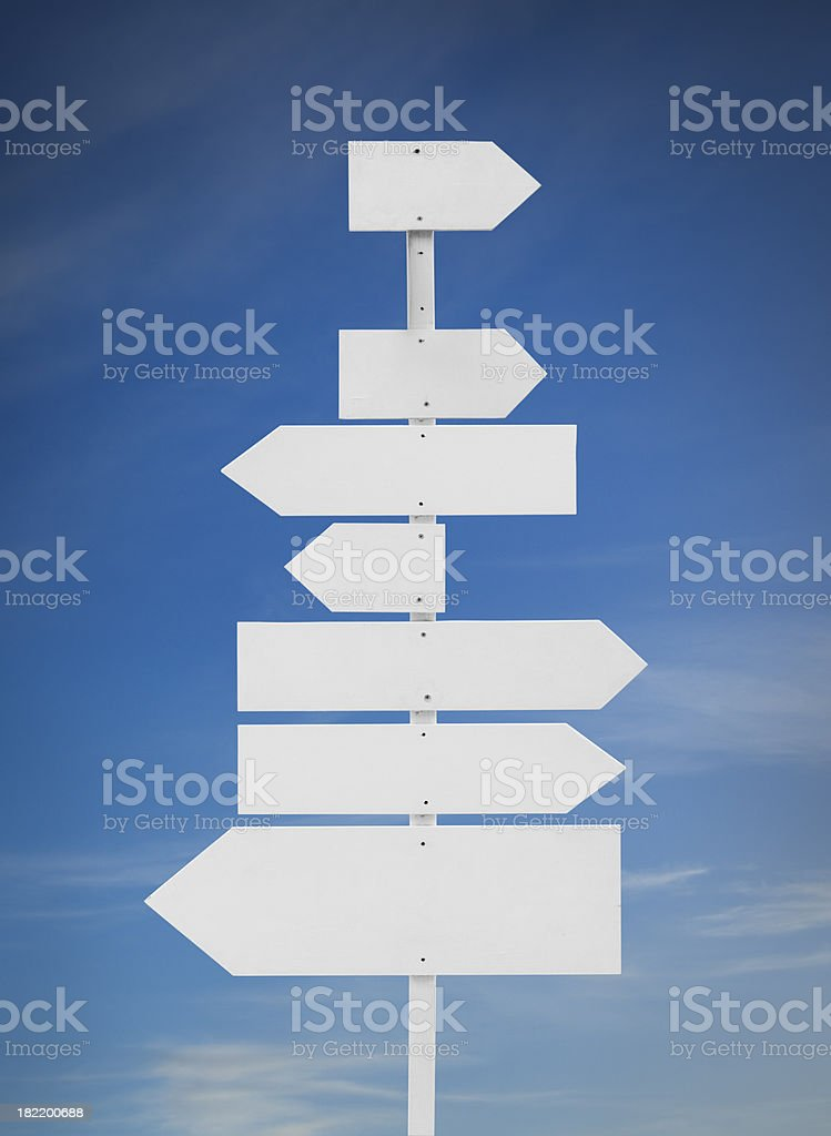 Blank directions sign - Royaltyfri Alternativ Bildbanksbilder