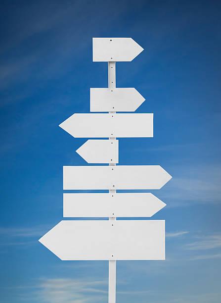 blank directions sign - stock arrow bildbanksfoton och bilder