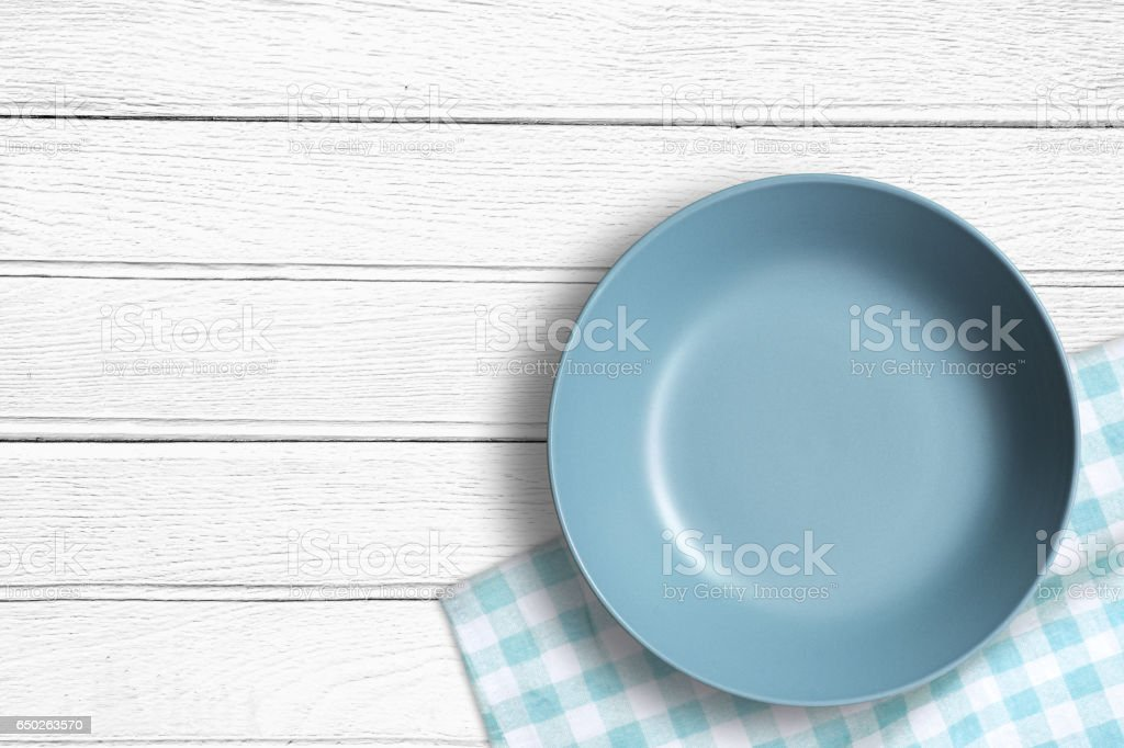 Blank Dish stock photo