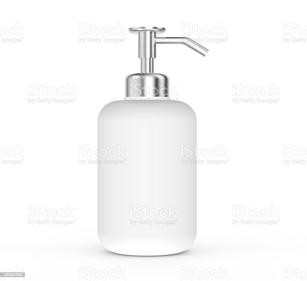 Blank dispenser pump bottle stock photo