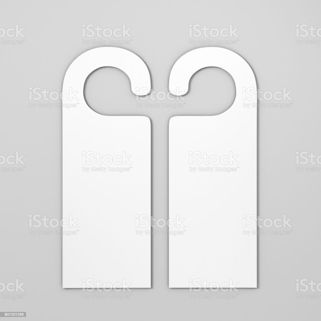 Blank Door Hanger Flyer White Tags For Room In Hotel Resort Home ...