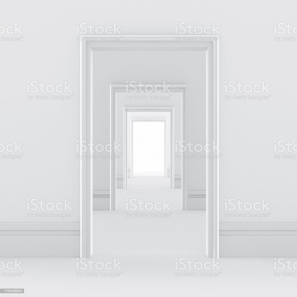 Blank Door stock photo