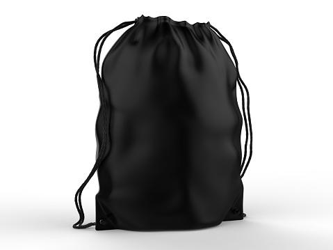 Blank Drawstring Polyester Tote Bag for branding.