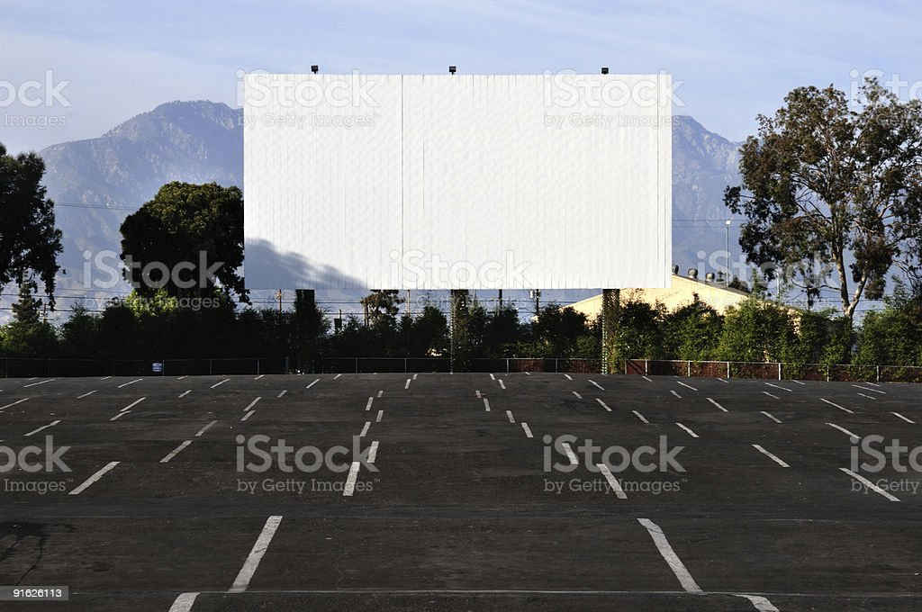 Blank Drive In Movie Screen And Empty Parking Spaces Stock Photo Download Image Now Istock