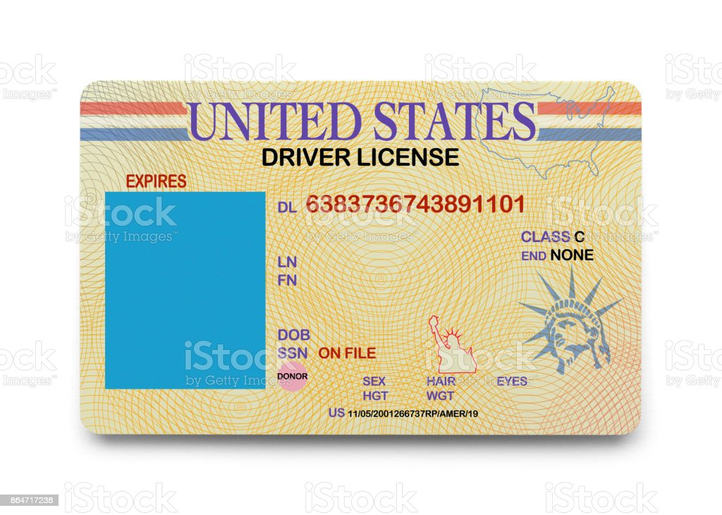 Licencia de conducir en blanco - foto de stock