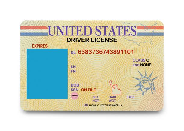 boş sürücü lisansı - kimlik stok fotoğraflar ve resimler