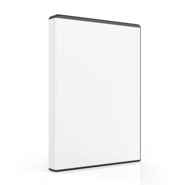 Blank DVD Case Isolated stock photo