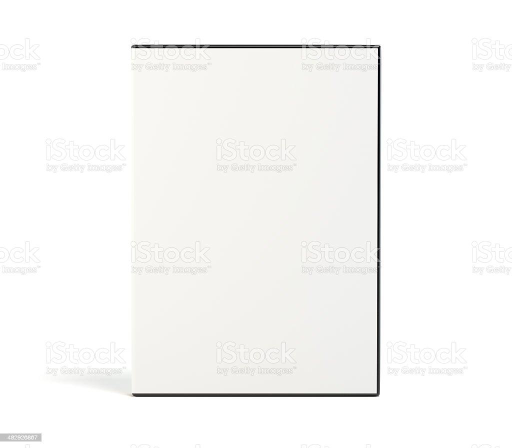 Blank DVD case stock photo