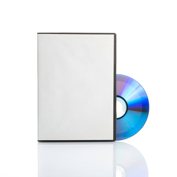 Blank dvd with cover stock photo