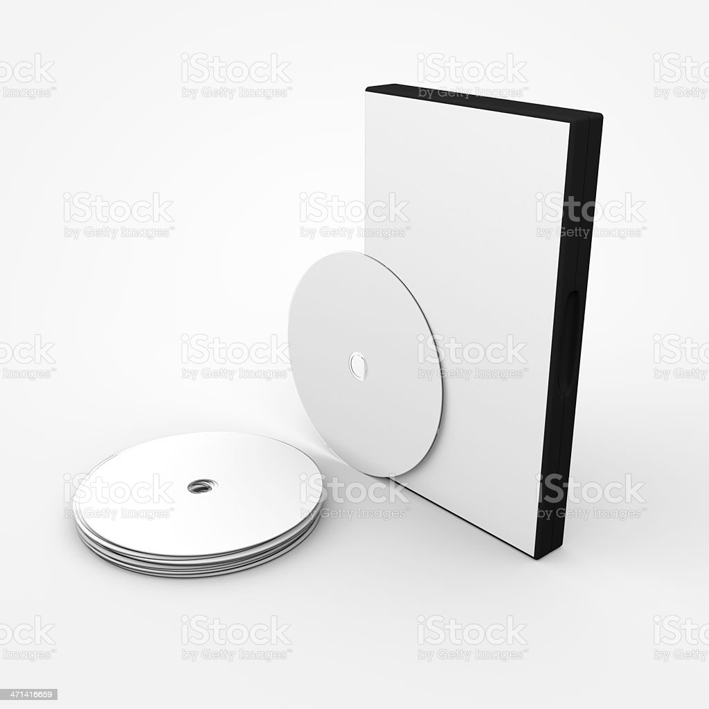Blank DVD's with case royalty-free stock photo