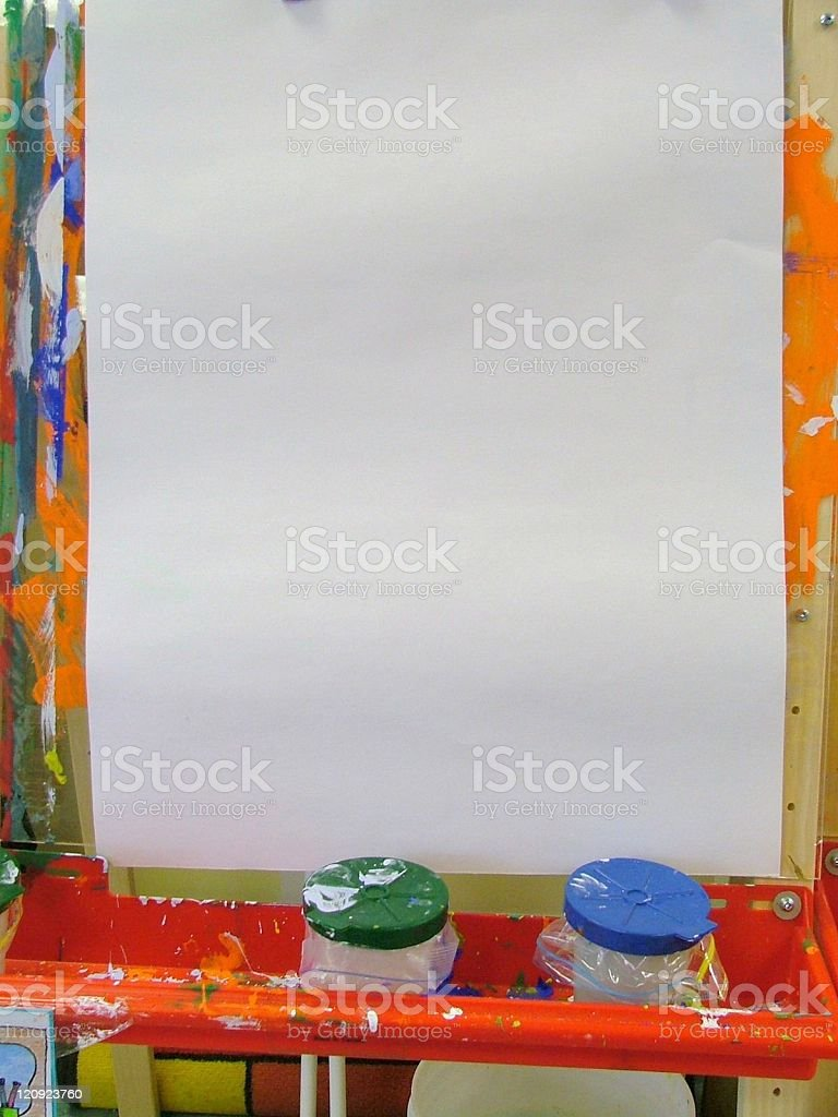 Blank Easel With Copy Space royalty-free stock photo