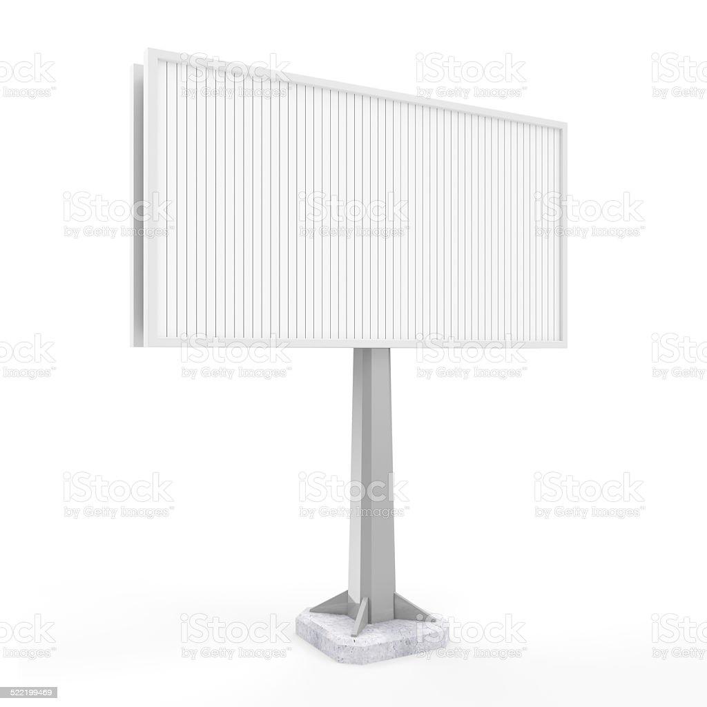 Blank Empty Billboard isolated on white background stock photo