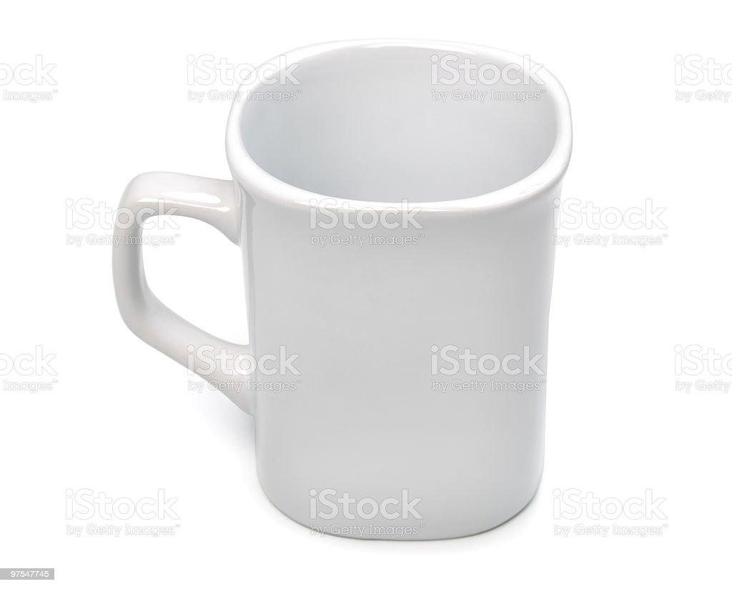 Blank empty coffee cup on white. royalty-free stock photo