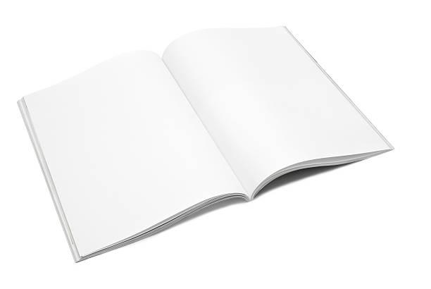 blank / empty magazine page - smeren stockfoto's en -beelden