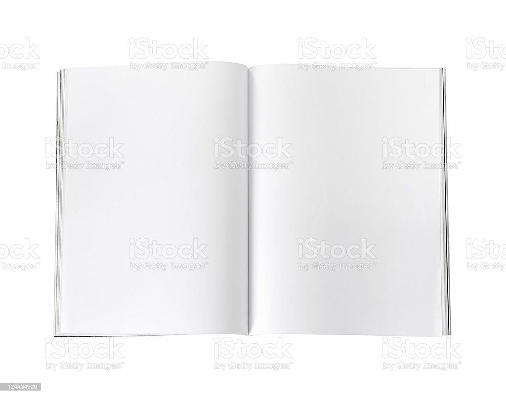 blank / empty magazine page royalty-free stock photo