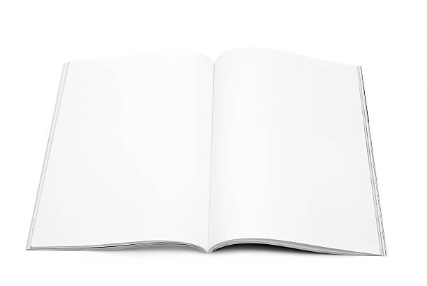 blank / empty magazine page - magazine mockup stock photos and pictures