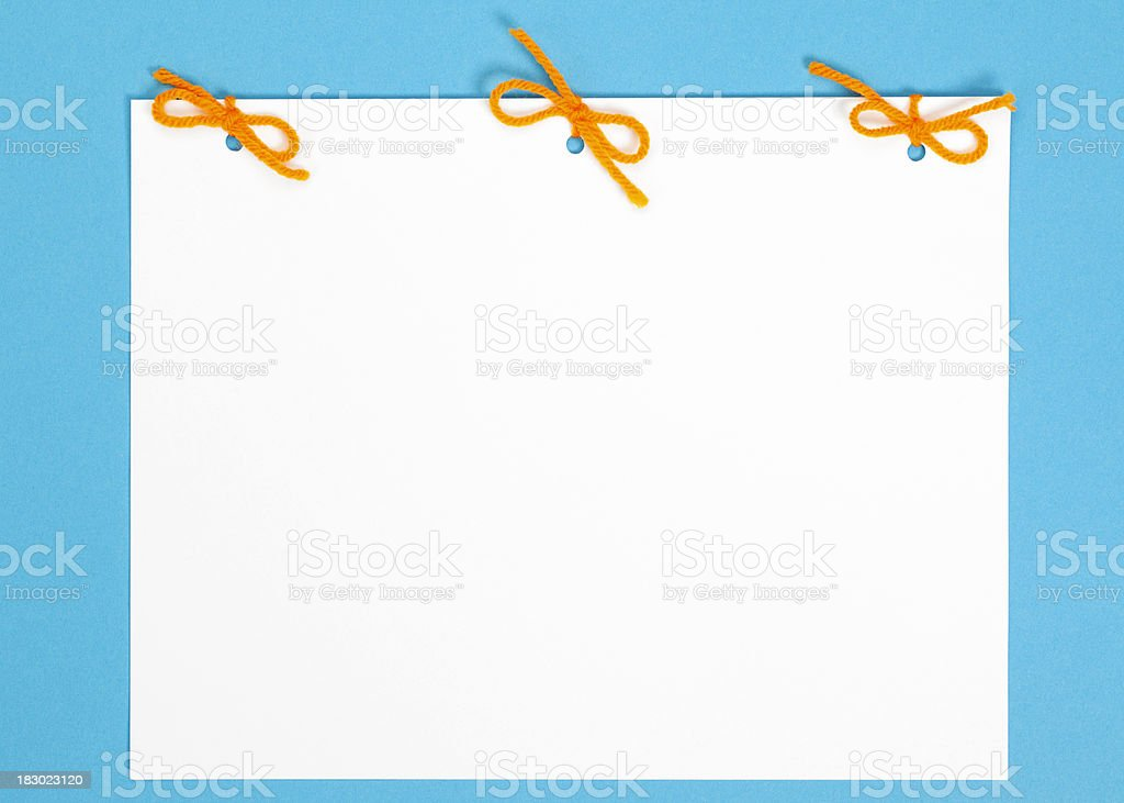 Blank Empty White Paper royalty-free stock photo