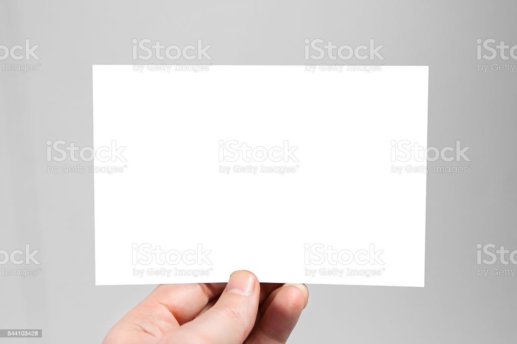 Blank envelope template stock photo