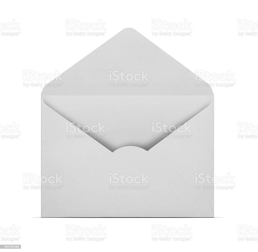 Blank envelope with clipping path stock photo