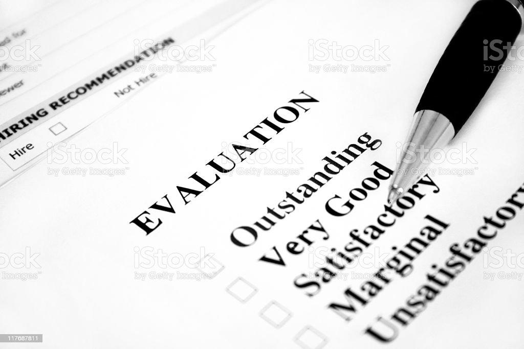 Blank Evaluation royalty-free stock photo