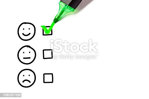 istock Blank Excellent Customer Service Evaluation Form 1080357438